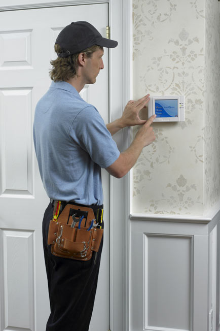 Home Security & Automation Expert Installing Security System in Home