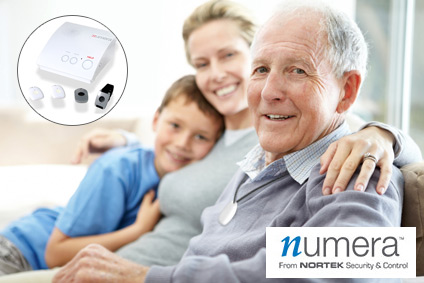 Numera Personal Safety products helping senior homeowner.